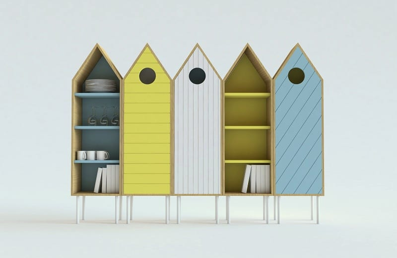 Cute sideboard inspired by the wooden beach cabins3