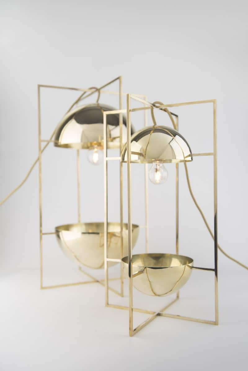 Delicate decorative light and bowl for modern interiors2