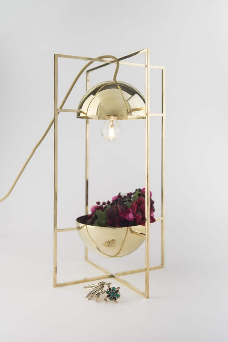 Delicate decorative light and bowl for modern interiors4