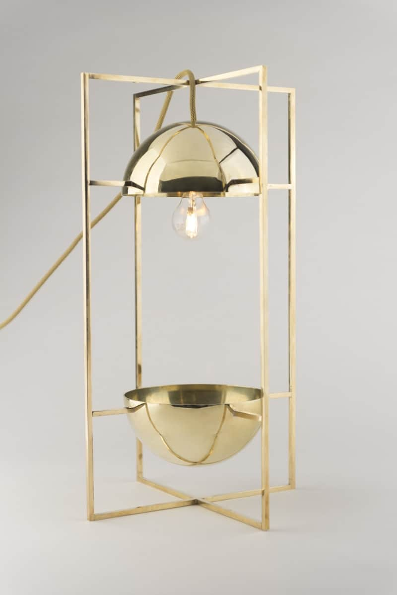 Delicate decorative light and bowl for modern interiors5