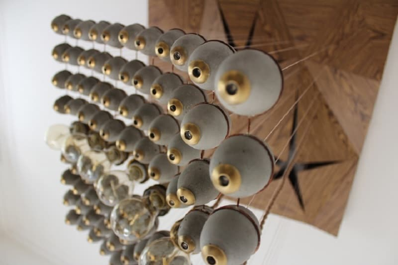 Extravagant chandelier made of concrete elements1