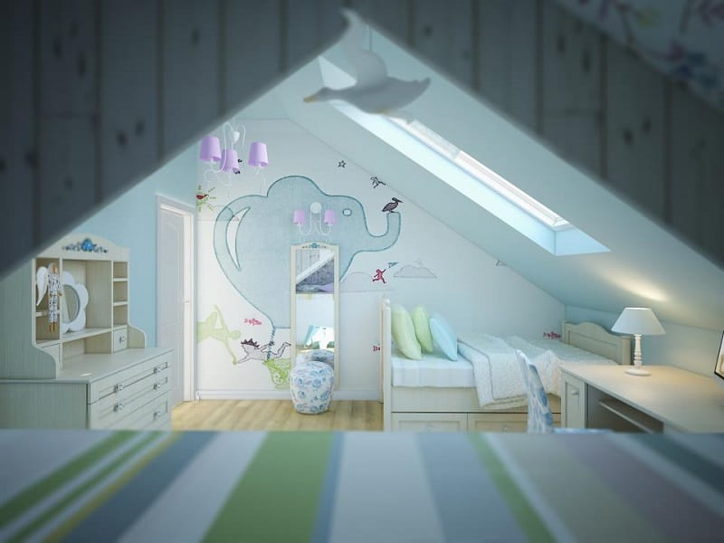 Playful children's rooms by Fajno Design5