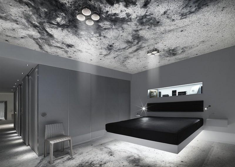 Travel through spacein the interior of the hotel Kameha Grand Zürich2
