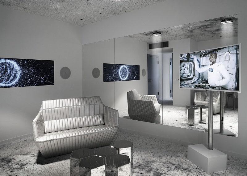 Travel through spacein the interior of the hotel Kameha Grand Zürich3