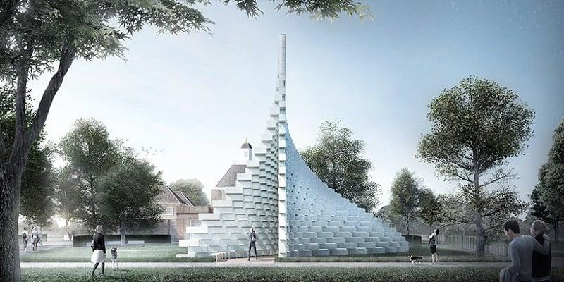 Bjarke Ingels unveiled the Serpentine Gallery Pavilion