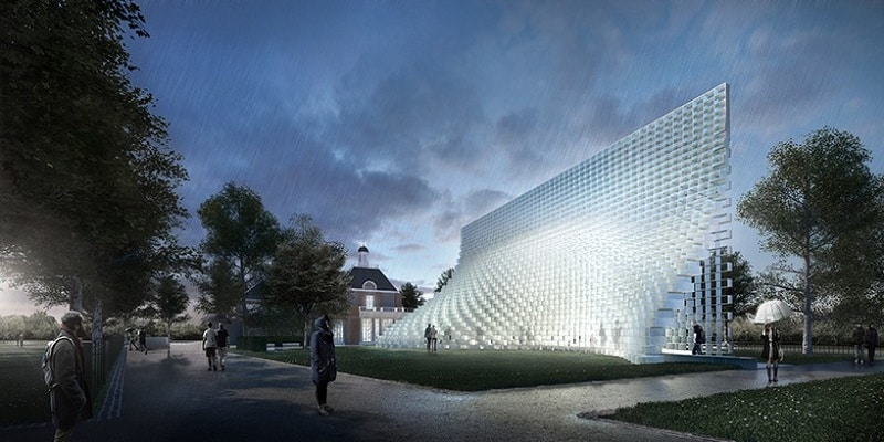 Bjarke Ingels unveiled the Serpentine Gallery Pavilion`1