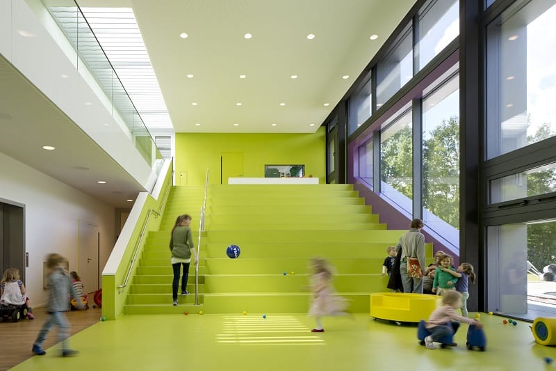 Children's daycare centre in Hamburg with a playful façade7
