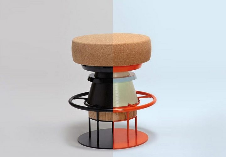 Fun stools with an interesting geometric shape