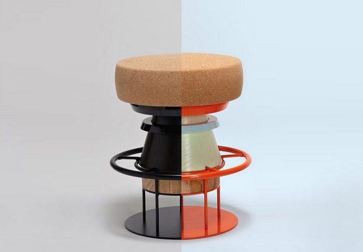 Fun stools with an interesting geometric shape