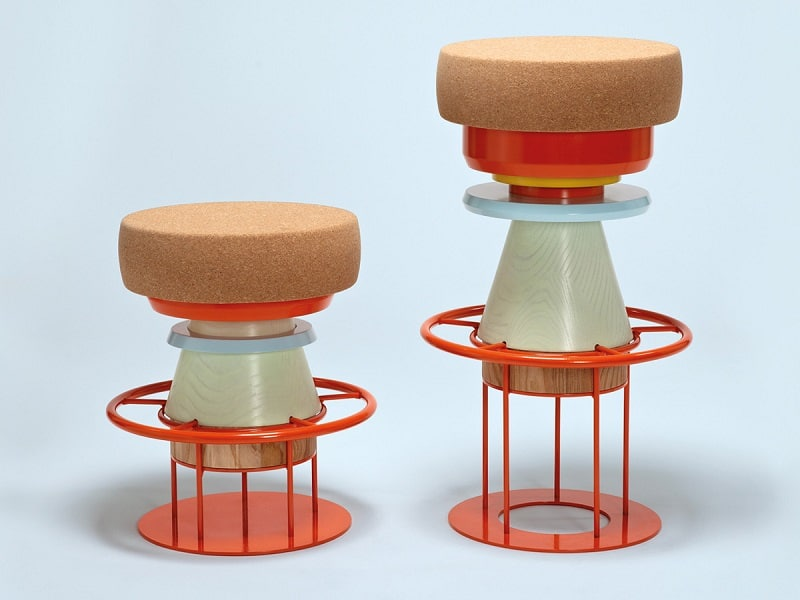Fun stools with an interesting geometric shape1