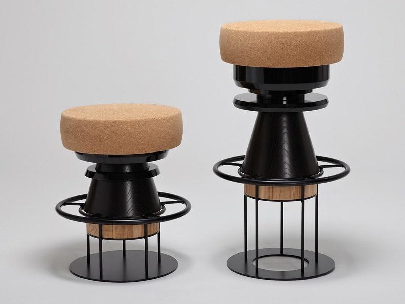 Fun stools with an interesting geometric shape3