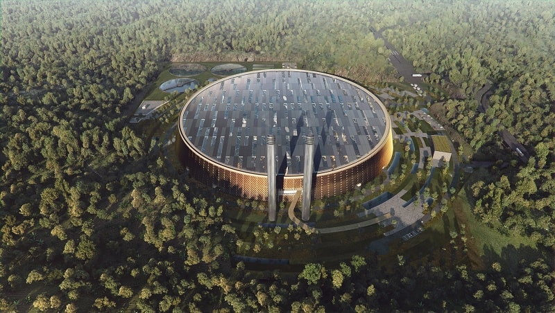 """Schmidt Hammer Lassen Architects"" will design the biggest factory for processing waste into electricity"