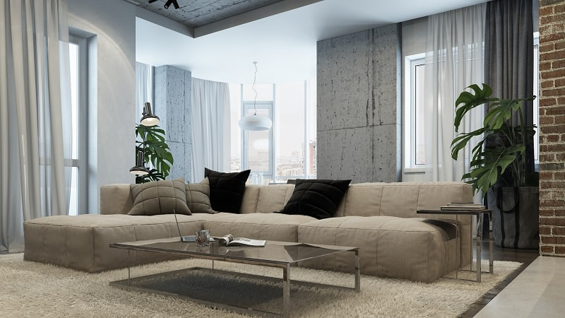 Sophisticated interior in industrial style1