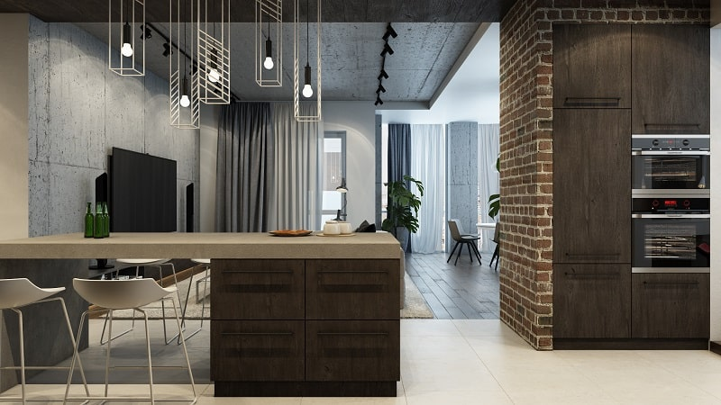 Sophisticated Interior In Industrial Style