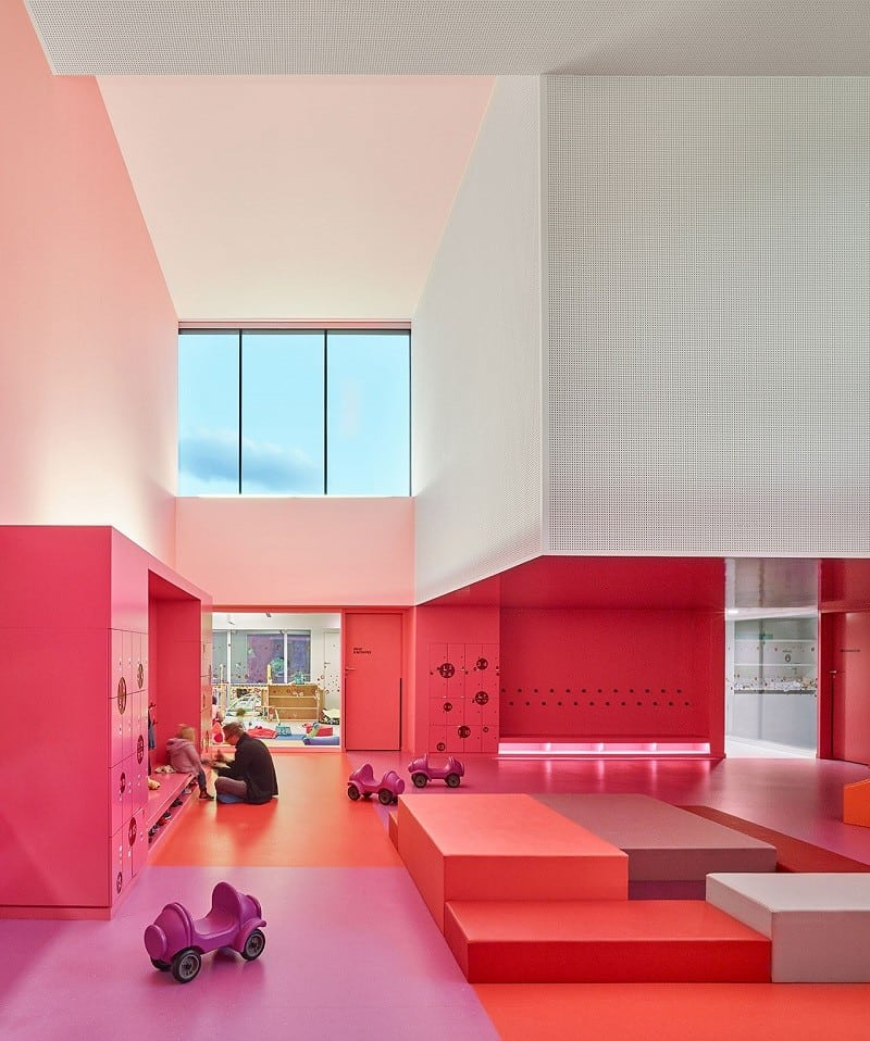 Colorful kindergarten in France