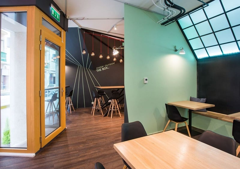 Coworking space with vibrant youthful energy in Budapest1