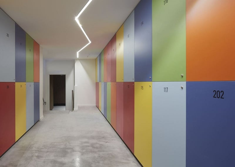 Spectrum Apartments - a residential building with colorful architectural character3