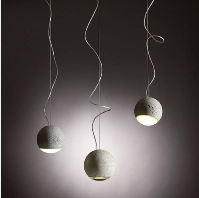 Trabant, spherical lamp made of concrete and glass3