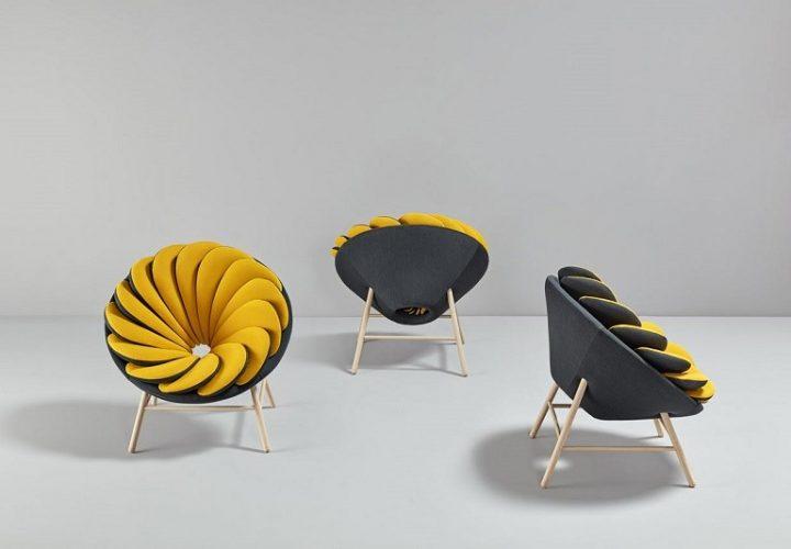 Quetzal, a comfortable armchair inspired by tropical birds