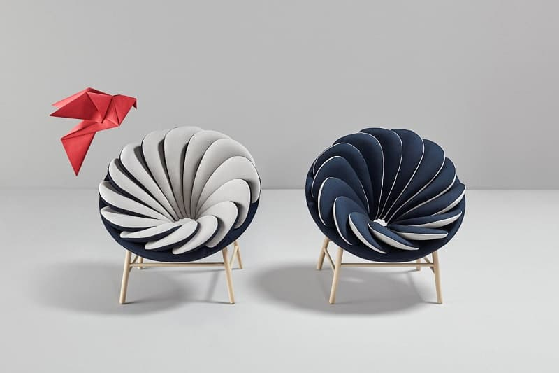 Quetzal, a comfortable armchair inspired by tropical birds2