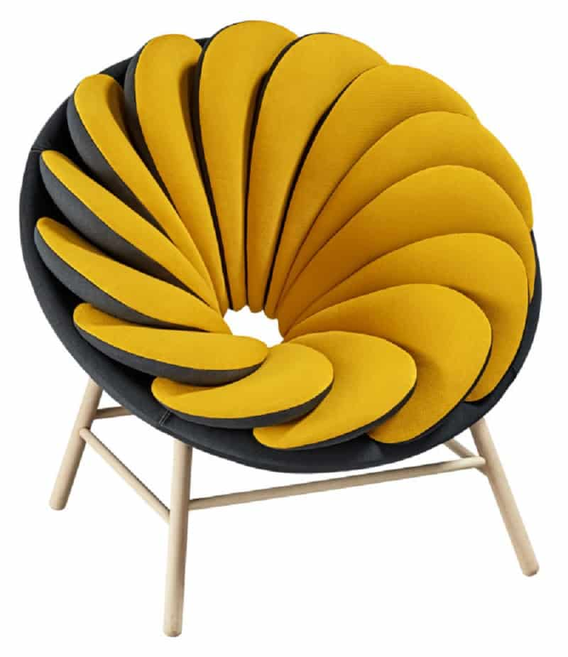 Quetzal, a comfortable armchair inspired by tropical birds3