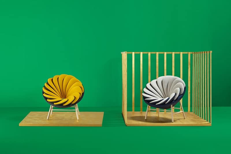 Quetzal, a comfortable armchair inspired by tropical birds4