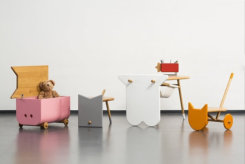 Avila – creative children's furniture with shapes inspired by pets and animals