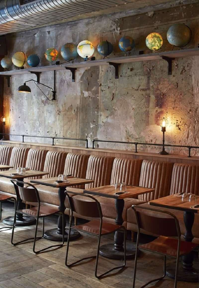 Restaurant In Industrial Vintage Style In Paris