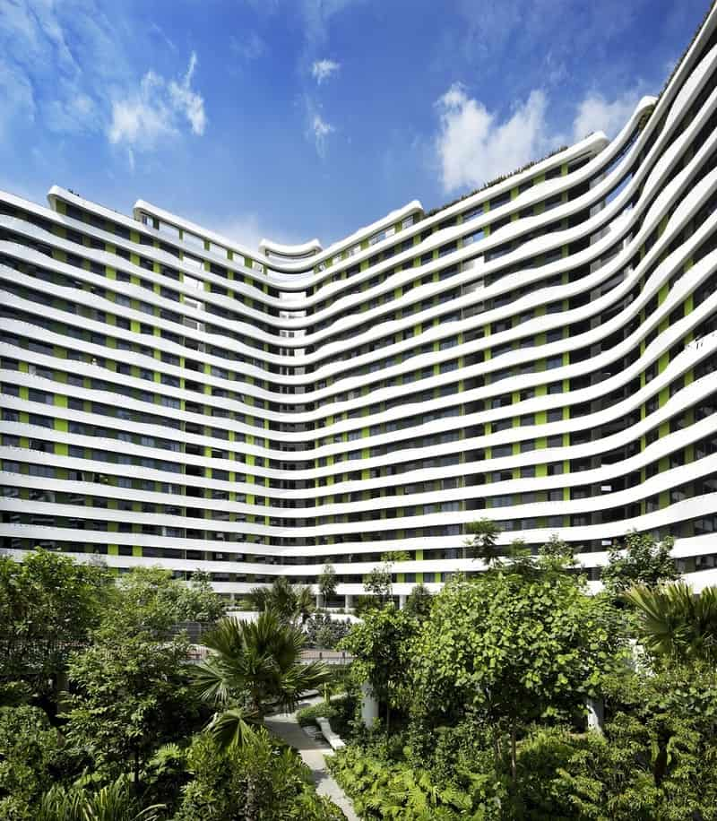 Living Hall Interior Design: Punggol Waterway Terraces, A Sustainable Residential
