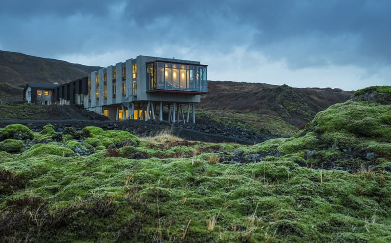 Old inn transformed and repurposed into a luxury ecological hotel