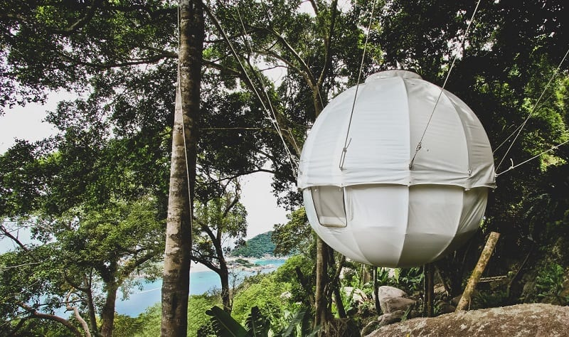 Be one with nature in this amazing cocoon tree house
