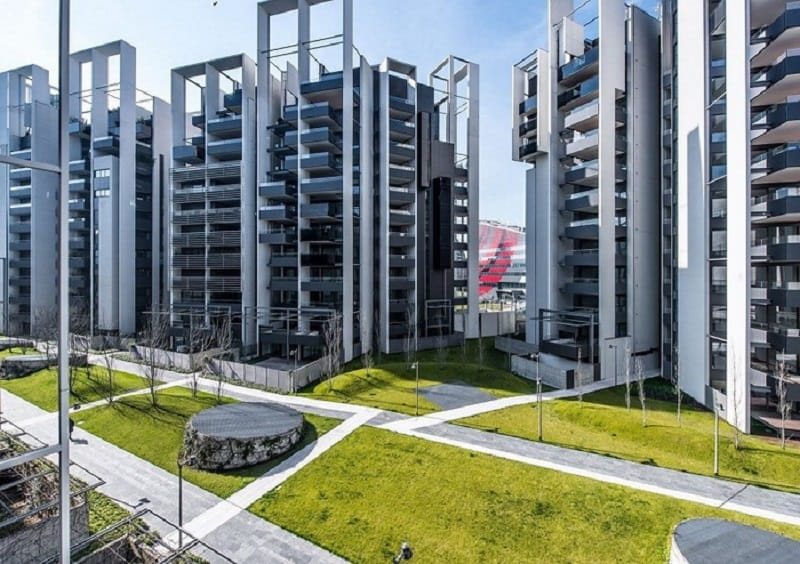 Environmentally friendly residential complex in Milan