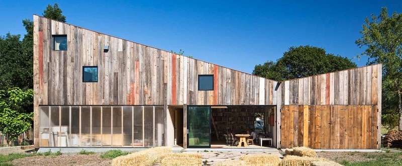 Old barn transformed into an art studio
