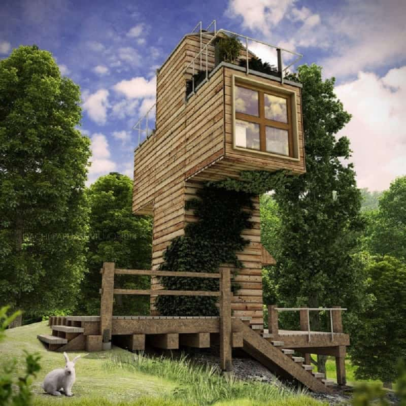 Self-sustainable microhouse made of containers