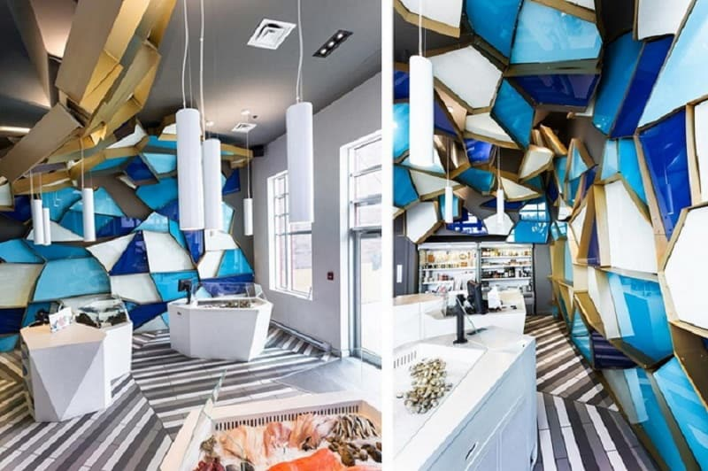 Step into the sea world in this amazing fish shop