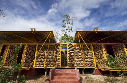 bamboo house front view by benjamin garcia saxe