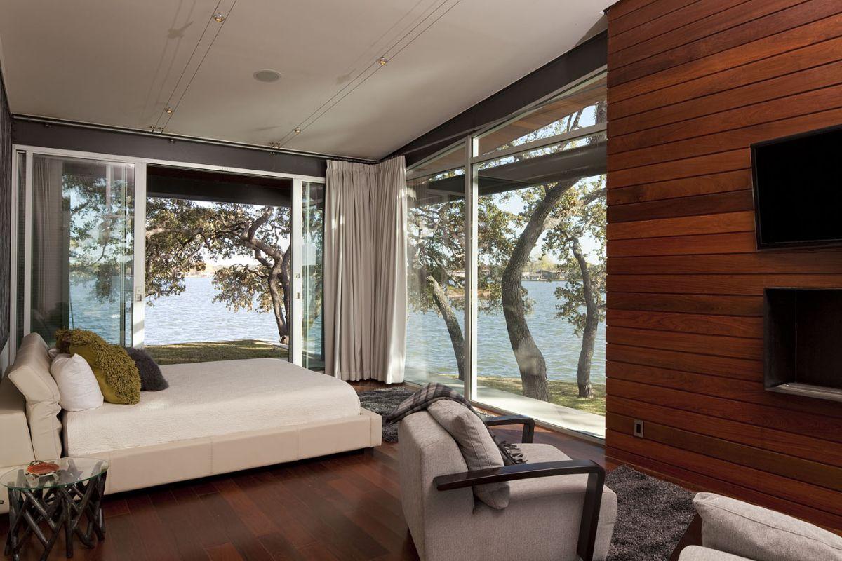 Lake LBJ Retreat bedroom lake view