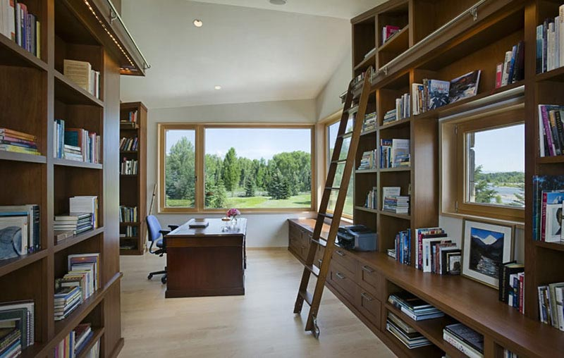 Home office and library in John Dodge Compound