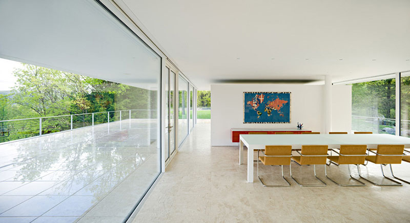 Olnick Spanu House dining room with white table