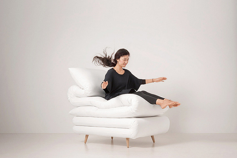 Sleepy Chair Made from mattresses by Daisuke Motogi 2