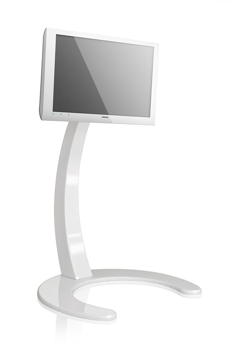 Xelo LCD TV Stand by Paxon in glossy white color