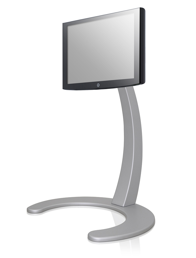 Xelo LCD TV Stand by Paxon in silver color