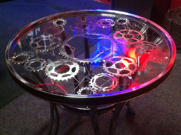 Bike Chain Ring Coffee Table round