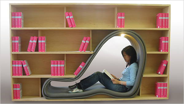 Cave bookcase by Sakura Adachi