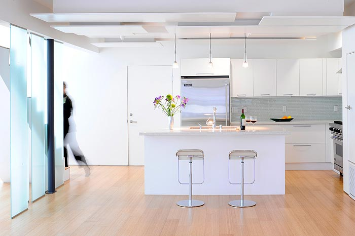 Kitchen and Dining area in Glass Townhouse