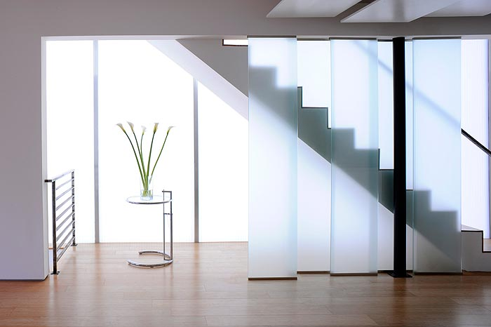 Staircase in Glass Townhouse