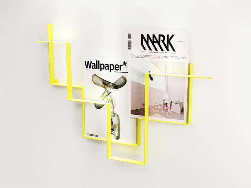 Yellow color magazine holder Guideline