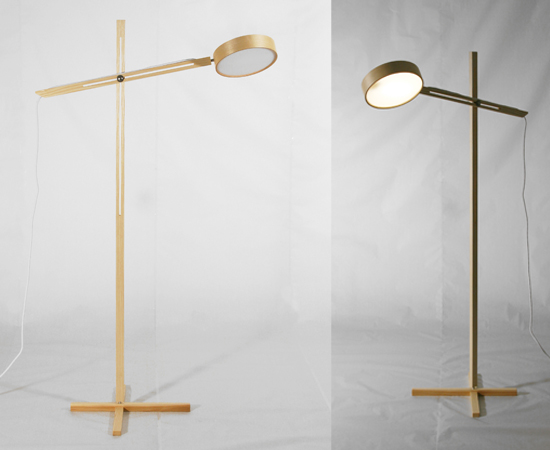 Axis Floor Lamp by Bao-Nghi Droste Design 1