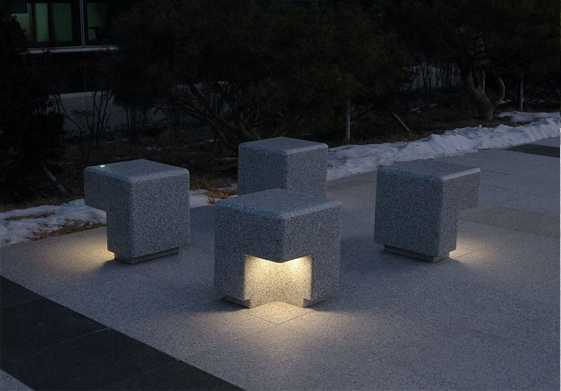 Cube Outdoor Bench by Kim Hyunjoo 4