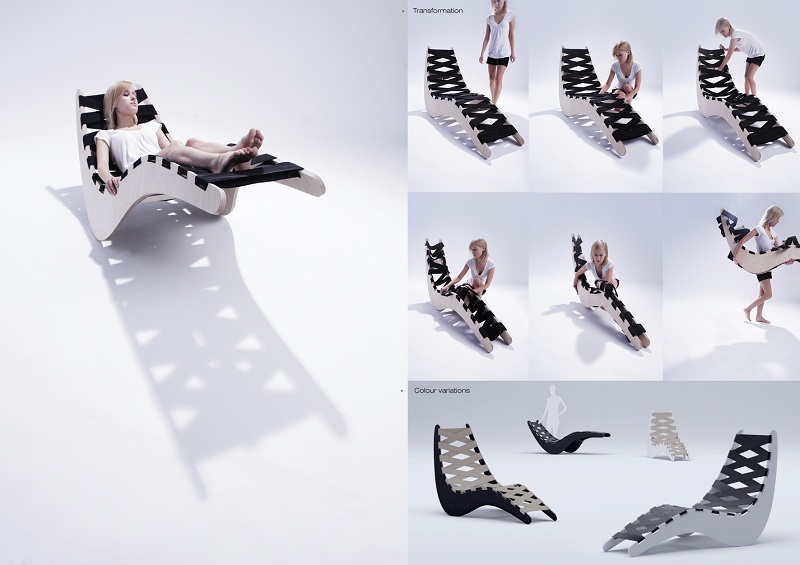 Foldable Chaise Lounge 4